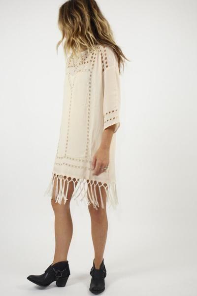 Lila Mini Dress Natural | ascot + hart