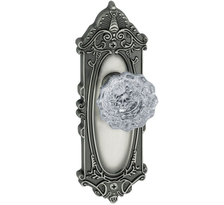 Door Hardware Express   Grande Victorian Plate Versailles Knob (Antique  Pewter), By Grandeur, Pewter By Grandeur/)