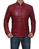 Justice League Superman Leather Jacket | Maroon, XL