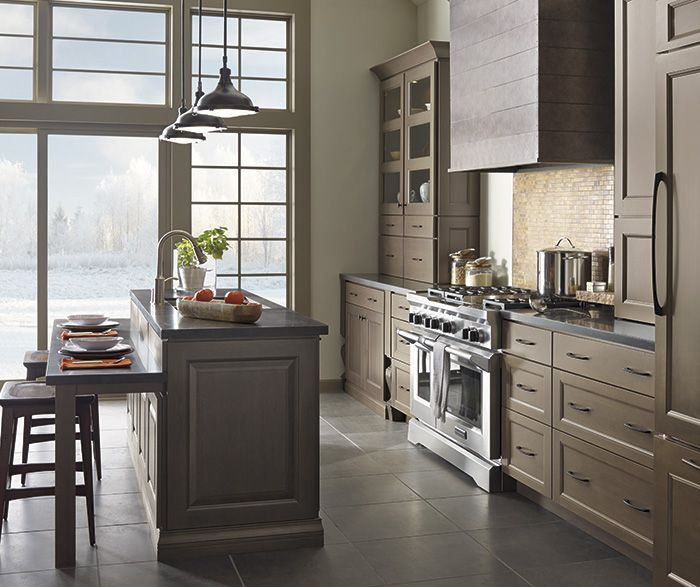 Balance Complexity And Simplicity With The Style Appeal Of These Gray  Kitchen Cabinets. The Clean