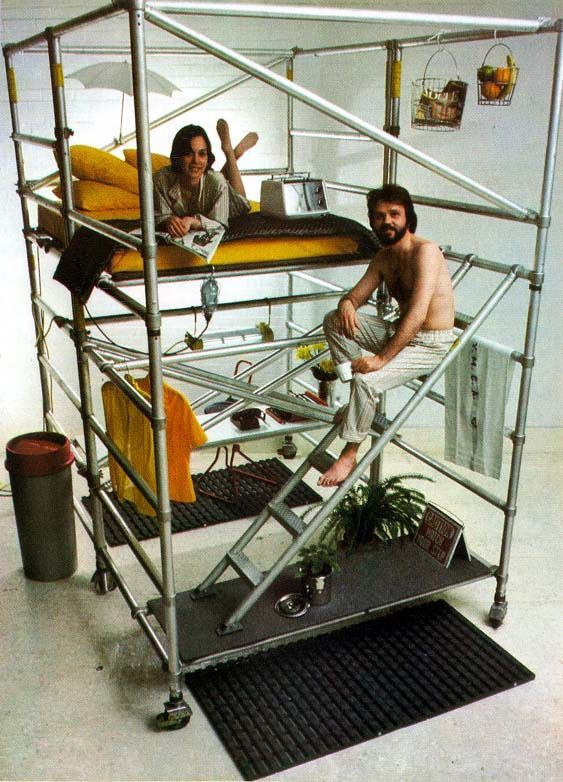 Loft Bed form the book High Tech by Joan Kron Suzanne Sloan, 1980