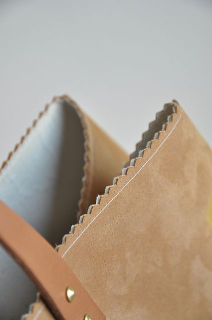 Leather and gold bag :: DIY instructions by // Between the Lines //, via Flickr