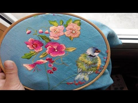 Embroidered bird - Trish Burr | part one - YouTube