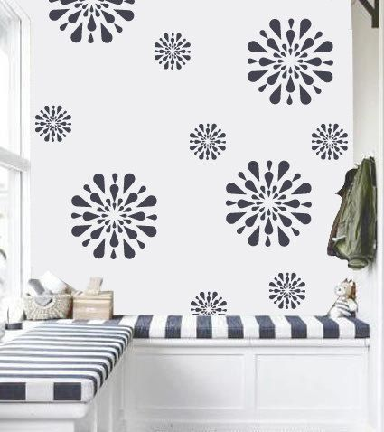 flower pattern stencil reusable wall stencil diy home decor fs 12 - Colour In Stencils
