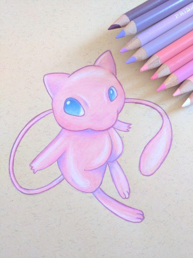 Mew #mew #pokemon #pink #prismacolor #pokémon