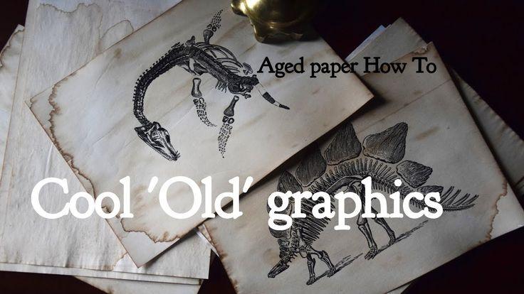 Oryginalne retro grafiki jako dekoracje - jak zrobić postarzany papier