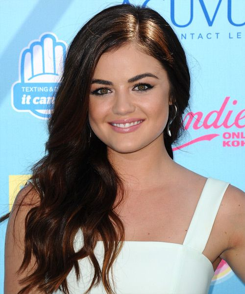 lucy hale hairstyle   casual long wavy hairstyles