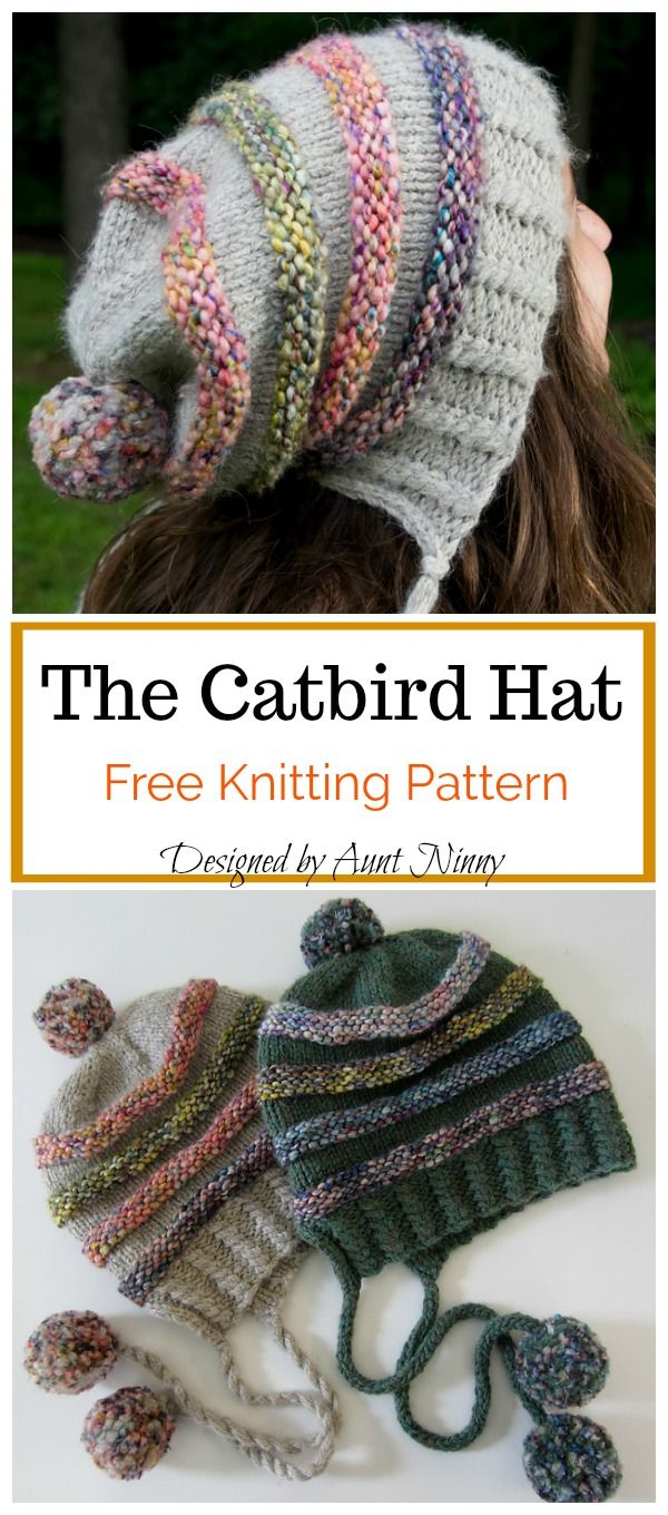 The Catbird Hat Free Knitting Pattern en 2018 | Crochet and Knit ...