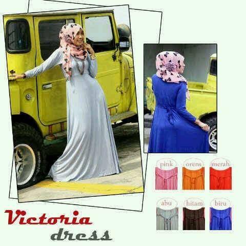 VICTORIA DRESS IDR 120 material : kaos rayon, fit XL 0857 2930 2137