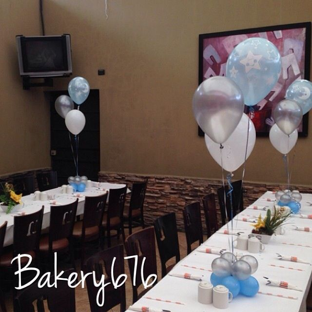 36 best images about decoraci n con globos on pinterest for Bakery story decoration ideas