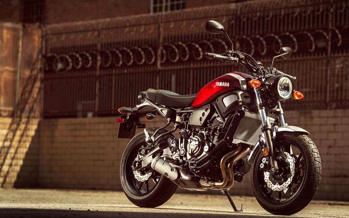 Download imagens A Yamaha XSR700, 2018 motos, sbk, japonês motocicletas, Yamaha