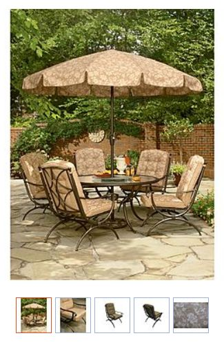 6 Pc Patio Set With Umbrella: Jaclyn Smith Today Addison 5 Dining Chairs Set Reg Price