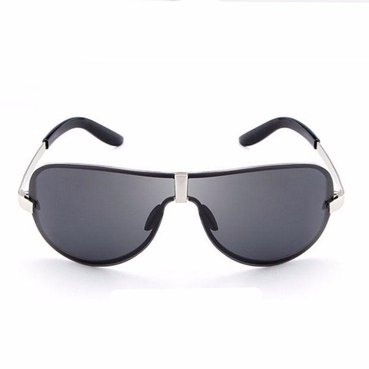 Men UV400 Polarized Polit Rimless Sunglasses Outdoor Driving Sports Glasses Eyewears