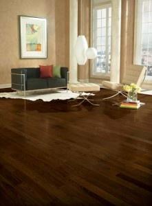Refinish hardwood floors and change color Westchester NY. Example of dark wood flooring ~!~