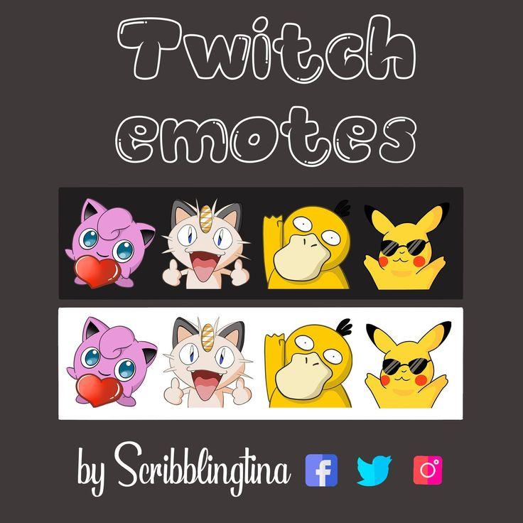 Pokemon emotes twitch emotes twitch affiliate streaming
