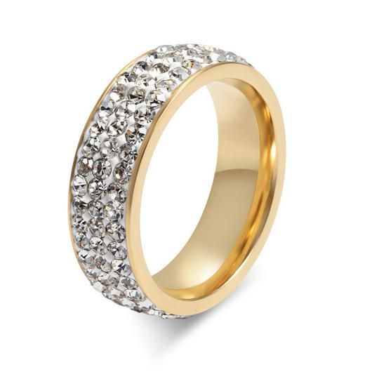 EXQUISISTE CRYSTAL GOLD PLATED RING - 5 COLORS-JEWELERY-TRYNKI