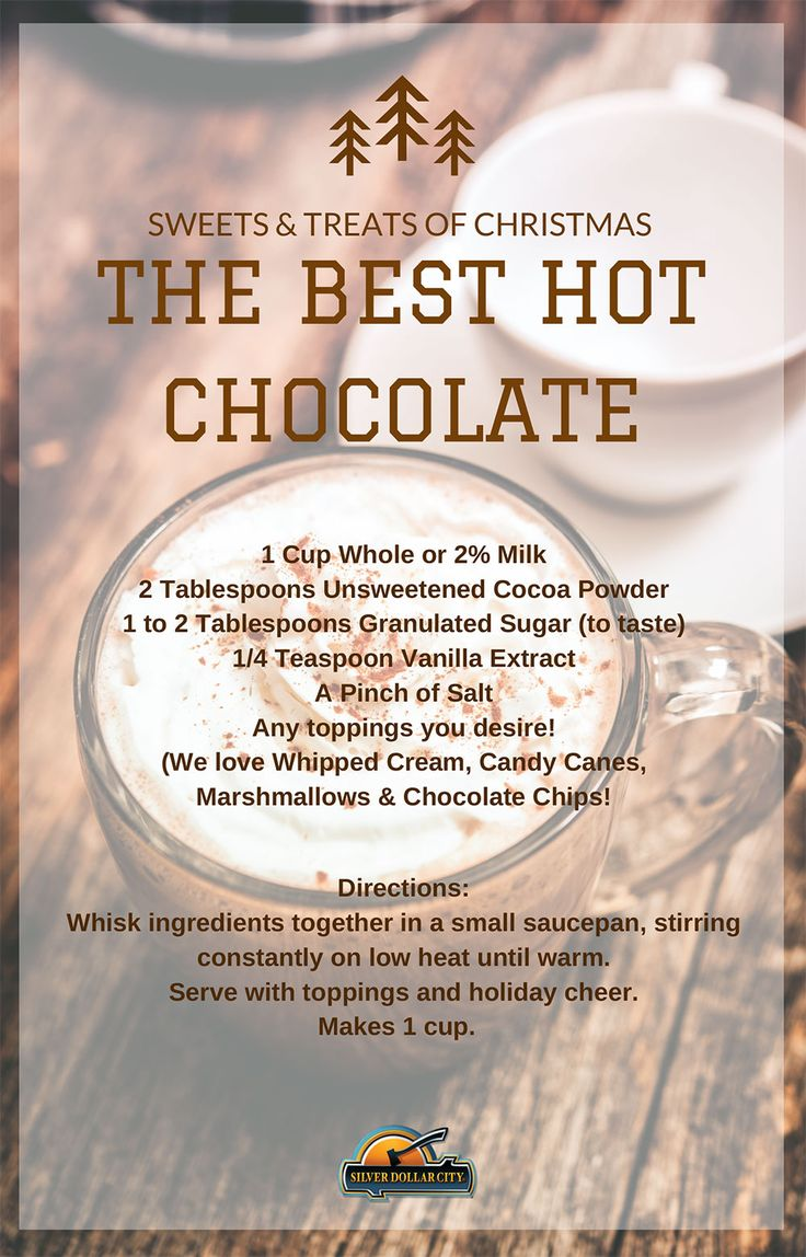 Learn how to make Silver Dollar City's famous hot chocolate at home!