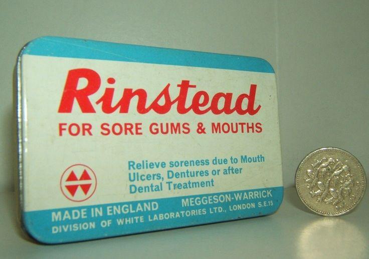 Vintage Rinstead Pastilles Advert Tin Very Good Condition | eBay