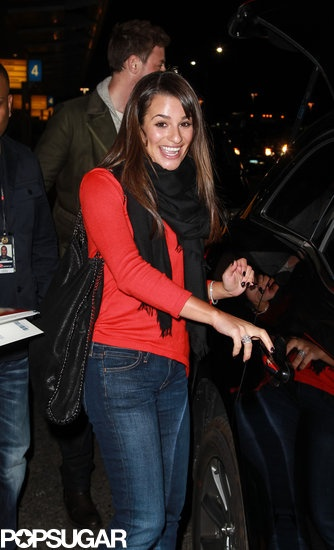 Lea Michele was all smiles in NYC | See more pics