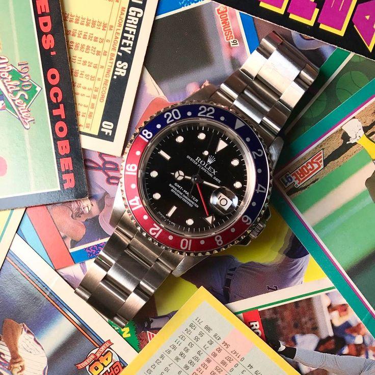 Daylight savings time requires a Rolex GMT to keep track of it, right? . . . #rolex #gmt #rolexgmt #baseball #baseballcards #rolexwrist #rolexmania #dallastx #dallas #northtexas #plano #planotx #gmtmaster #wristporn #watch #watches #watchmania #instawatch #photography #jewelry #dallasjeweler #dallasbig #throwback #1990s #daylightsavings #daylight