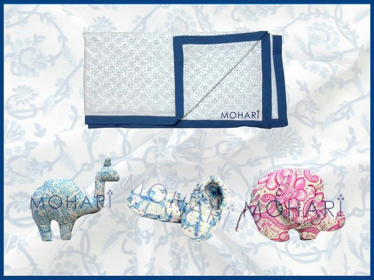 Our range of hand block printed baby products http://www.moharis.com/moharis-block-print/baby-products/ Hand stitched kantha baby booties, block printed plush toys or fabric toys, block printed dohars, etc.