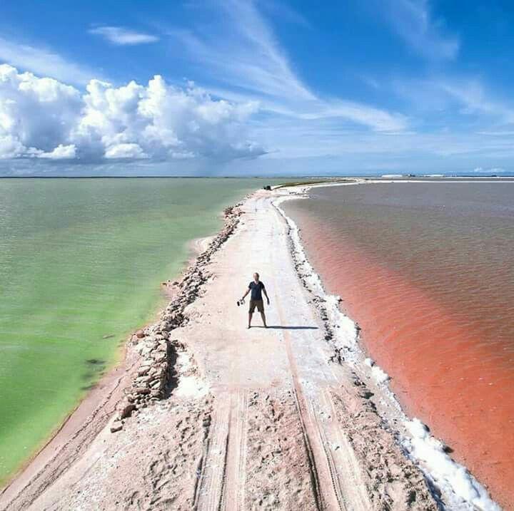 Pink lagoon, peninsula Jukatan, Mexico ☺