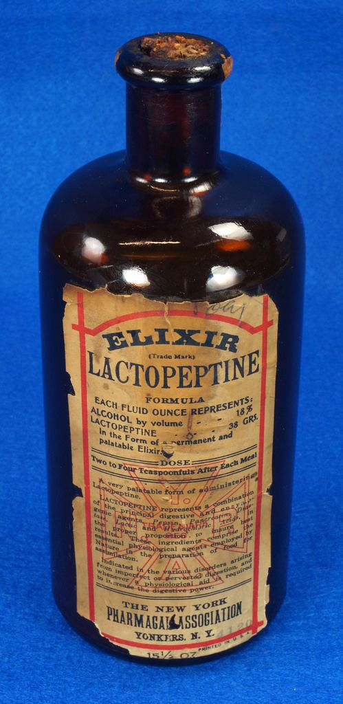 Vintage ELIXIR Lactopeptine Bismuth Yonkers NY Pharmacal Assoc Medicine Bottle  eBay Link: http://www.ebay.com/itm/Vintage-ELIXIR-Lactopeptine-Bismuth-Yonkers-NY-Pharmacal-Assoc-Medicine-Bottle-/302050930581  RD11767  Go back to Tin Can Alley - FOR SALE: http://www.bagtheweb.com/b/PBdAfQ