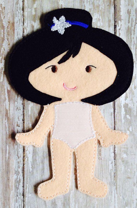 Mulan Felt Doll by NettiesNeedlesToo on Etsy, $7.00