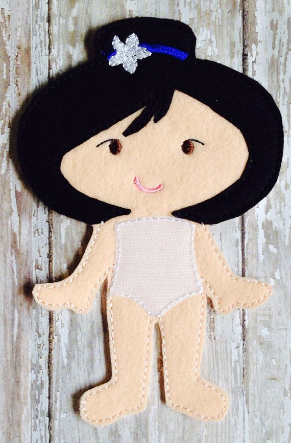 Mulan Felt Doll by NettiesNeedlesToo on Etsy, $7.00