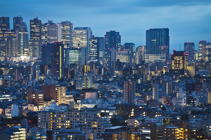 Downtown Tokyo | Downtown Tokyo Skyline At Dusk Tokyo by Bryan Mullennix