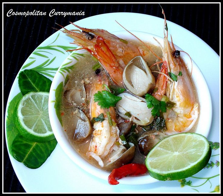 Tom Yum Goong (Thai Hot and Sour Prawn Soup)