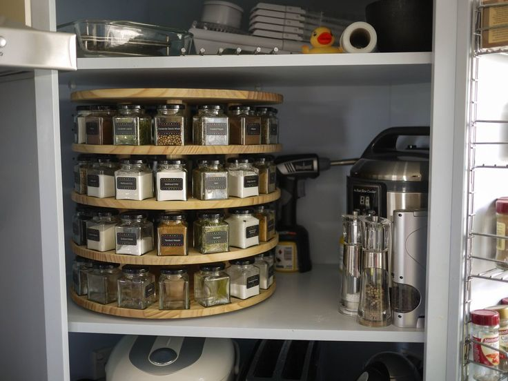 lazy susan turntable spice rack home improvements pinterest spice. Black Bedroom Furniture Sets. Home Design Ideas
