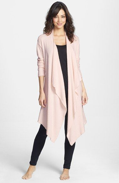 Barefoot+Dreams®+'Bamboo+Chic'+Drape+Front+Cardigan+(Nordstrom+Exclusive)+available+at+#Nordstrom