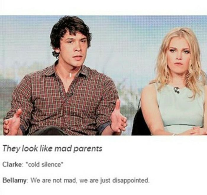 This is probably their face when Jason said something bad about Bellarke...
