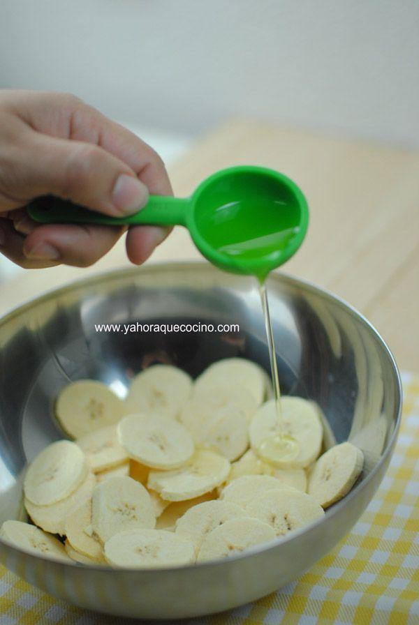 cortar-y-Cómo-Hacer-Chips-de-Plátano-al-Horno