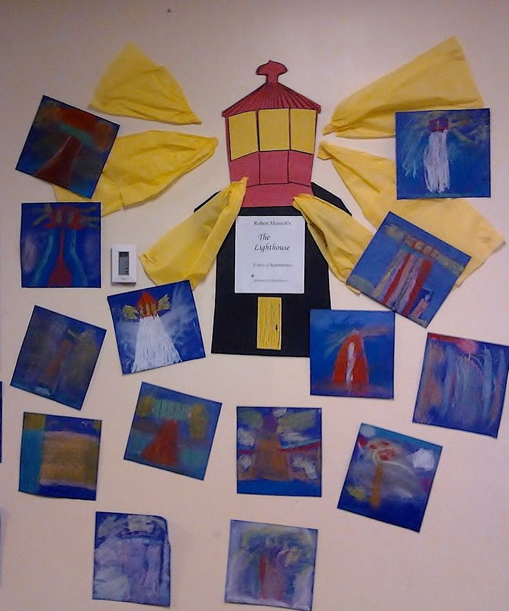 Grade Two chalk pastel art lesson inspired by Robert Munsch's book, The…