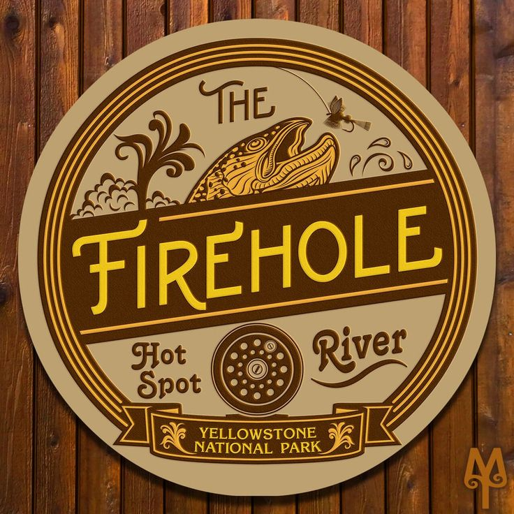 Firehole River Sign