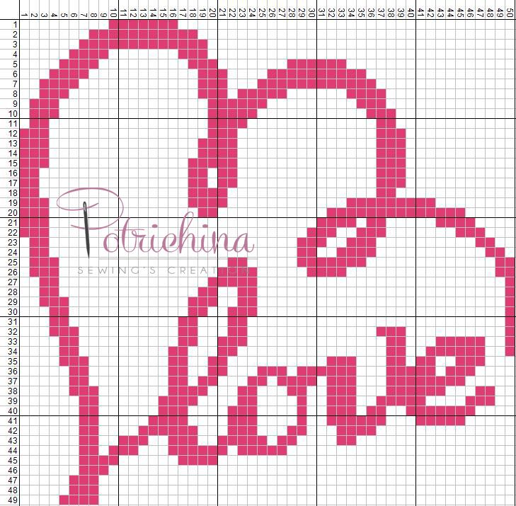 Love - schema punto croce  - cross Stitch - Kreuzstich - Punto de Cruz