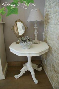 relooker un gueridon egrainage vernis d poussi rage sous couche sp ciale bois peinture l. Black Bedroom Furniture Sets. Home Design Ideas