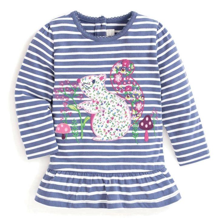 Girls' Blue Stripe Hedgehog Tunic | JoJo Maman Bébé