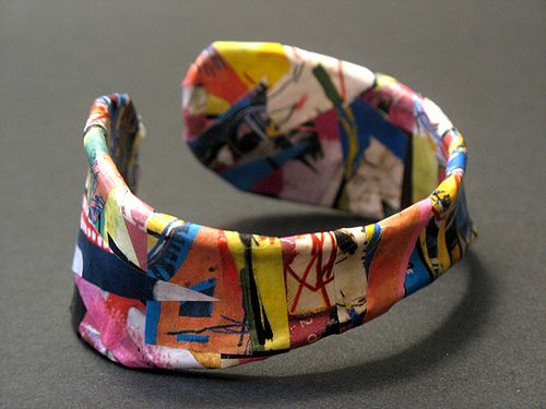 jewelry++m+peper+recicle | Recycled Paper Cuff | Flickr - Photo Sharing!