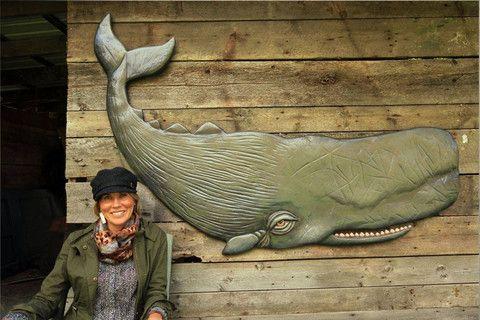 Whale   Vermont Artist Rachel Laundon     #fishart #vermont #folkart #homedecor