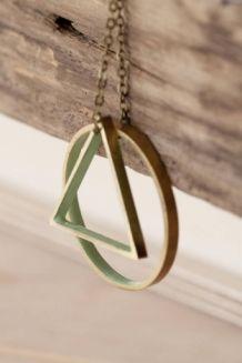 Driehoek ketting/cirkel geometrisch