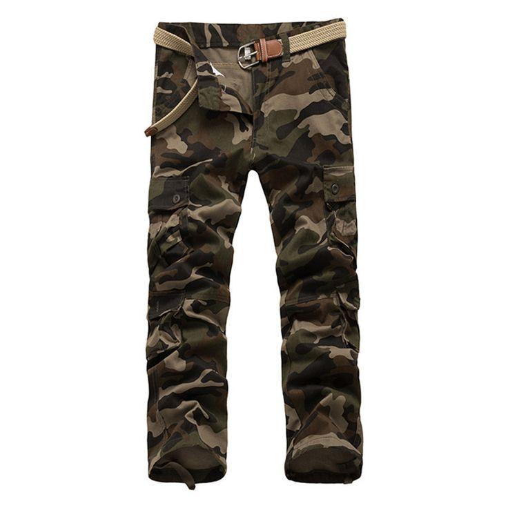 New Arrival Brand Clothing Autumn Men Pants Fashion Military Mens cargo Pants Quality Cotton Casual Pants Plus Size