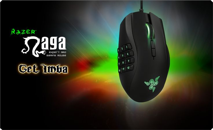 The best gaming mouse - Razer Naga, features 19 MMO optimized programmable buttons, mechanical 12 button thumb grid, tilt-click scroll wheel and ergonomic form factor.