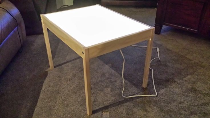 LATT IKEA table converted into light table tutorial! Extremely easy and major savings compared to costly education store light tables!