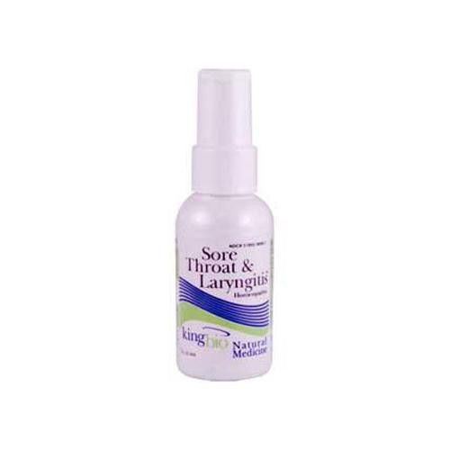 King Bio Homeopathic Sore Throat And Laryngitis Reliever - 2 Fl Oz