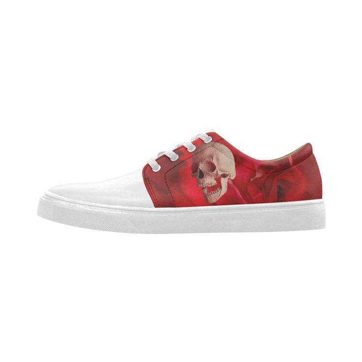Funny Skull and Rose Cygnus Pointed Toe Women