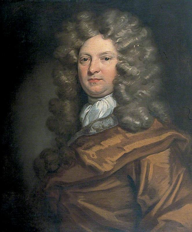 """Dramatist Big Wig! William Wycherley (c.1640–1715) by Peter Lely (style of) William Wycherley was a dramatist and may have coined the expression """"nincompoop"""" (certainly, the word occurs in The Plain Dealer). The Oxford English Dictionary cites Wycherley as the first user of the phrase """"happy-go-lucky"""", in 1672."""