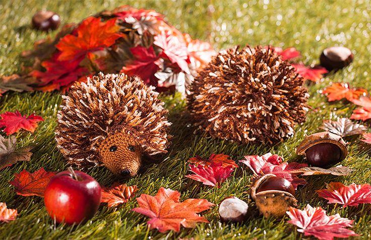 Anleitung: Süße Herbstigel häkeln